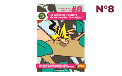 Affiche #8 – Vigilance lors d'utilisation de scies